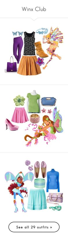"""""""Winx Club"""" by catloverd ❤ liked on Polyvore featuring Juicy Couture, Uniqlo, Proskins, Tarina Tarantino, Cruciani C, women's clothing, women's fashion, women, female and woman"""