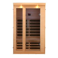 Canadian Spa Company Huron FIR Sauna with 8 Carbon Far Infrared Heaters, Bluetooth and LED Chromotherapy Lighting