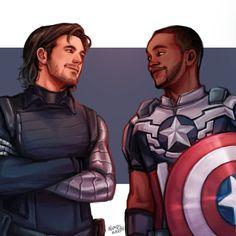 Marvel E Dc, Marvel Fan Art, Marvel Avengers, Bucky Barnes, Winter Soldier, Steve Rogers, Thor Y Loki, The Dark Side, Captain America And Bucky