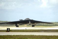 B-2 Spirit taking off (rare photo)