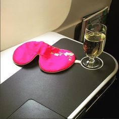 """Lavender Eye Mask in Pink Blossom added by @mariannekrey """"On the way to Oslo"""""""
