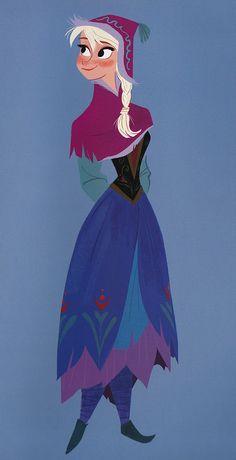 ▣ Frozen (2013) Anna character design