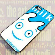 Blur Coffee & TV Milk Carton For iPhone 4 or 4s Black Rubber Case
