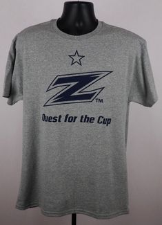 7186554e7e6 Akron Zips Shirt Adult Large Gray Quest for the Cup Soccer Shirt New ST168   Jerzees