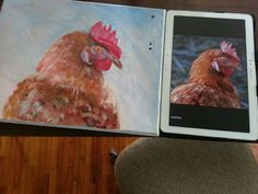 Rooster acrylic