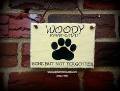 Dog/Cat Memorial  Hand Painted Decorative Slate by Pipberrytree, $24.00
