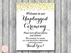 wd47c-gold-unplugged-ceremony-sign-no-phones-or-cameras