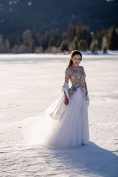 My beautiful winter wedding dress