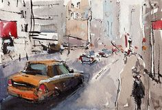 The messiness of the drawing indicates a concept of the cityscene.