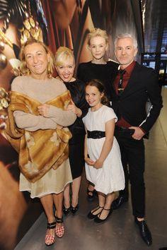 Miuccia Prada smiled with Catherine Martin, Carey Mulligan, Baz Luhrmann, and Catherine and Bazs daughter, Lillian.