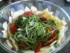 One of my favorite salad recipes with creamy lemon dressing on @OneGreenPlanet