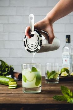 Light and refreshing Cucumber & Mint Mojitos  a go-to  Mein Blog: Alles rund um Genuss & Geschmack  Kochen Backen Braten Vorspeisen Mains & Desserts!