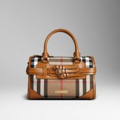 Burberry CHECK LEATHER BOWLING BAG 38165601