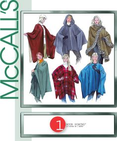 McCall's 3448 from McCall's patterns is a One-hour poncho sewing pattern