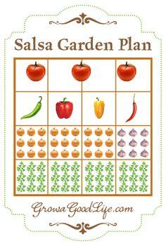 Salsa Garden Plan for Raised Bed or Square Foot Garden | Grow a Good Life #homesteadbloghop