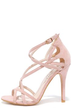 b544b0fe75c4 Forever In Love Nude Suede Caged Heels