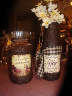 grunged jars