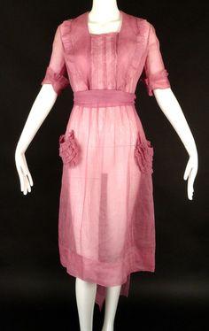 1920 Lavender Silk Organza Dress