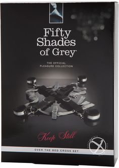 FIFTY SHADES KEEP STILL BED CROSS RESTRAINT - A deluxe new spin on a classic restraint system, inspired by the Fifty Shades of Grey books. Unguarded vulnerability or spread-eagled exposure? The choice is the dominant`s, as they arrange the cuffs for maximum excitement. Double up the fun once more by securing the submissive on their front - the versatile restraint allows for a wide variety of positions.