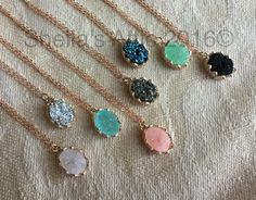 Hey, I found this really awesome Etsy listing at https://www.etsy.com/listing/260783429/rose-gold-druzy-necklace-rose-gold