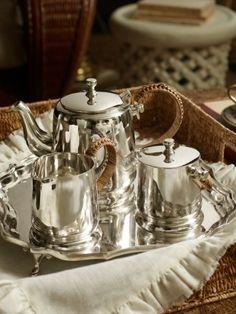 ralph lauren silver tea set