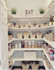 20 ways find storage for small kitchen pantry organization with the sample Small Kitchen Pantry, Pantry Room, Kitchen Pantry Design, Pantry Closet, Small Kitchens, Kitchen Organization Pantry, Home Office Organization, Pantry Storage, Organization Ideas