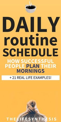 Terrific Photo daily routine examples Suggestions Your daily routine consists of all of your habits.These actions structure every day and make the dif Daily Routine For Women, Daily Routine Schedule, Routine Planner, Daily Routines, Daily Schedules, Productive Things To Do, Habits Of Successful People, Morning Habits, Morning Routines