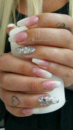 Faded French  Gel Nails  #gelnails