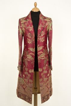 Stage Coat in Moss Rose, Price £335.00