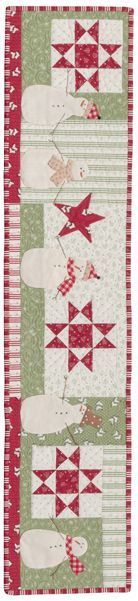 Snowy day quilt row designed by Anne Sutton of Bunny Hill Designs