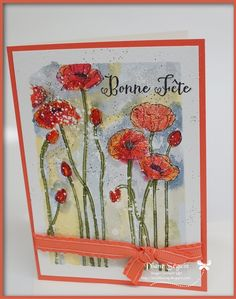 pleasant poppies stampin up Stampin Up, Brin, Poppies, Creations, Cards, Watercolor Paper, Color, Stamping Up, Map