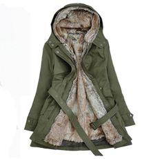Women's Casual Hooded Faux Fur Parka Jacket Outwear With Belt Winter Jackets Women, Coats For Women, Ladies Coats, Long Parka Coats, Parka Jackets, Women's Coats, Trench Coats, Belted Coat, Hooded Winter Coat