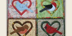 Depict the 4 Seasons or Simply Use Fabric You Love! Nature lovers, gardeners and anyone who enjoys spending time outside will be delighted by these charming mug rugs. They depict popular birds styled to depict the four seasons: a blue jay, cardinal, robin and woodpecker. Make one or make all four, for yourself or to …