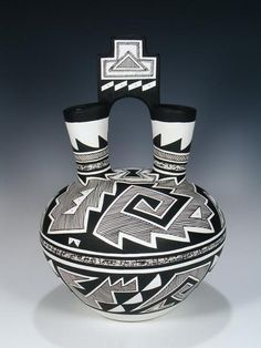 Native American Pottery, Native American Indians, Native American Wedding, Trail Of Tears, Pueblo Pottery, Wedding Vases, Gourd Art, Pottery Art, Ceramics