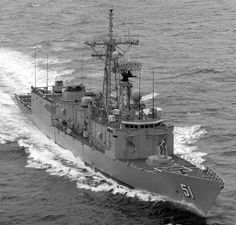 """USN - """"USS GARY"""" (FFG-51) Is a (453') Oliver Hazard Perry Class Frigate – Commissioned 17 November 1984 – Compliment: 15 Officers and 190 Enlisted, plus SH-60 LAMPS Detachment of Roughly 6 Officer Pilots and 15 Enlisted Maintainers – Armament: 1 x 3 Inch (76mm) Mk 75 OTO Melara Naval Gun, 6 x 12.75 Inch (324mm) Mk 32 Torpedo (2 Triple) Tubes, 1 x 20mm Vulcan Phalanx Gun, 4 x .50 cal Browning M2 Machine Guns and 2 × SH-60 LAMPS III Helicopters   - Awaiting Sale to Taiwan"""