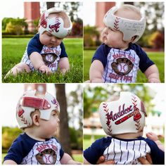 Maddox's Atlanta Braves Band DOC band/helmet  https://www.facebook.com/pages/Cranial-BandsMurals-by-Leigh-Gibson/153150921414230