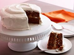 Carrot Cake with Marshmallow Fluff Cream Cheese Frosting: Bobby Flay's carrot cake is filled with fabulous spices like freshly grated ginger, crystallized ginger, cinnamon and nutmeg. Bobby turns traditional cream cheese frosting on its head with the addition of Fluff.
