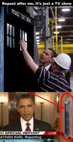 obama gets visit from tardis