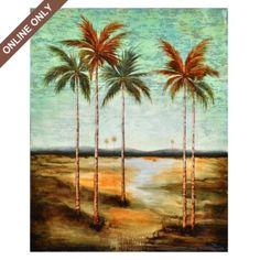 Palm Trees Canvas Art Print #kirklands #coastalliving