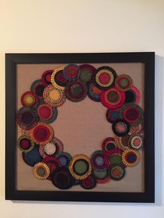 Wool Penny Wreath