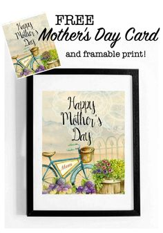 Free Mother's Day Card and framable print at Refresh Restyle
