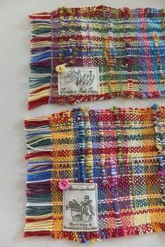 手織りの大判コースターセットA