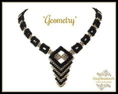 This is a 15 pages PDF instant download file on how to make the necklace Geometry in English with easy to follow diagrams and written instructions Also available as beading kit (beads only):