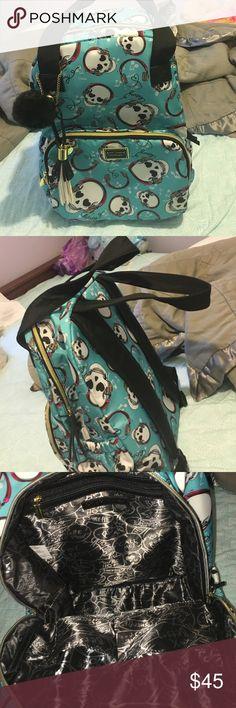 Betsy Johnson bookbag It's brand new, skulls with headphones, blue bookbag, great for school Betsey Johnson Bags Backpacks