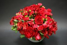 Wallpapers Bouquets Roses Alstroemeria Tulips Red Flowers