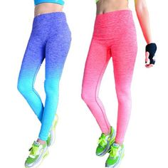 Ladies Two Toned Fitness Leggins