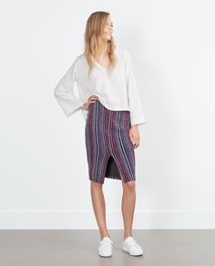 ZARA - WOMAN - JACQUARD SKIRT