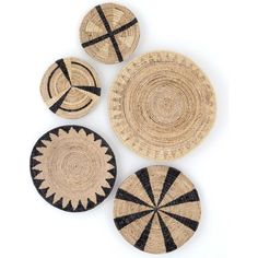 Shop Minna Wall Hangings Skilled artisans weave sugar palm and banana leaves by hand, creating intricate wall hangings accented with graphic patterns. Baskets On Wall, Hanging Baskets, Wall Basket, Basket Planters, Basket Weaving, Hand Weaving, Bedroom Decor, Wall Decor, Wall Art
