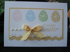 I have used another stamp from the Easter Blossoms set for today's card, this time the pretty egg. Easter Religious, Easter Crafts, Easter Ideas, Stamping Up Cards, Scrapbook Cards, Scrapbooking, Kids Cards, Flower Cards, Homemade Cards