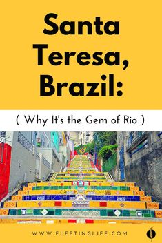 Santa Teresa is one of the best neighborhoods to visit when you're in Rio de Janeiro, Brazil. Here's why (and exactly what to do in a day in Santa Teresa). Travel And Tourism, Us Travel, Travel Ideas, Travel Inspiration, Holiday Trip, Santa Teresa, Digital Nomad, Ultimate Travel, Amazing Destinations